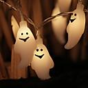 billige Speil-halloween ghost strengelys 1,2m 10 led halloween tema strålelys med blinkende modus for halloween dekorasjon utendørs hage hjemme