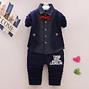 povoljno Kompletići za dječake-Dijete Dječaci Ležerne prilike / Osnovni Na točkice Print Dugih rukava Regularna Normalne dužine Komplet odjeće Navy Plava