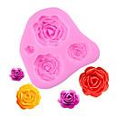 baratos Iluminação de Motocicleta-4 tamanhos rose flower shape silicone mold cupcake flower fondant ferramentas de decoração do bolo de cozimento
