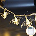 billiga Film- och TV-kostymer-halloween bat dekoration vattentät led ljus strängar ghost festival rum dekoration lykta