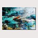 billige Abstrakte malerier-Hang malte oljemaleri Håndmalte - Abstrakt Landskap Moderne Inkluder indre ramme