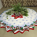 זול כיסויי שולחן-יום יומי סיבי פוליאסטר עגול כיסויי שולחן גיאומטרי חג המולד לוח קישוטים