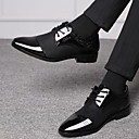 baratos Oxfords Masculinos-Homens Sapatos Confortáveis Couro Ecológico Verão Oxfords Respirável Preto / Marron