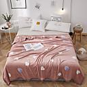 baratos Cobertura de Sofa-Sofá Jogue / Cobertores para Crianças / Cobertores Multifuncionais, Simples / Desenho Animado Flanela Tosão Aquecedor Confortável Super Macio cobertores