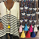 cheap Necklaces-Women's Pendant Necklace Necklace Long Necklace Long Butterfly Vintage Trendy Ethnic Fashion Cord Stone Black Rose Red Light Blue White Yellow 90 cm Necklace Jewelry 1pc For Daily School Street