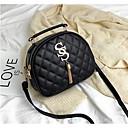 ราคาถูก กระเป๋า Totes-สำหรับผู้หญิง แสงระยิบระยับ / ซิป PU กระเป๋าถือยอดนิยม สีทึบ สีดำ / ขาว