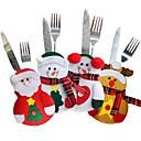 povoljno Božićni ukrasi-4pcs pribor za jelo postavlja božićne vrećice s nožem i vilicama