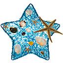 baratos Brinquedo de Água-Criativo concha do mar em forma de estrela lâmpada de mesa lâmpada de vime usb led lâmpada casa quarto mesa luz noturna decoração romântica iluminação de mesa