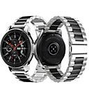 baratos Arrumação e Organização-Pulseira de relógio de aço inoxidável de metal pulseira de relógio para samsung galaxy watch 46mm / gear s3 classic / frontier pulseira pulseira substituível