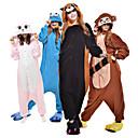 ราคาถูก ชุดนอน Kigurumi-ผู้ใหญ่ Kigurumi Pajama Raccoon Bear รูปสัตว์ Onesie Pajama Polar Fleece เส้นใยสังเคราะห์ สีดำ / สีน้ำตาล / ฟ้า คอสเพลย์ สำหรับ ผู้ชายและผู้หญิง สัตว์ชุดนอน การ์ตูน Festival / Holiday เครื่องแต่งกาย
