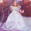 billige Sett med Gutter babyklær-Dukkekjole Bryllup Til Barbie Trykt mønster Blonde organza Kjole Til Jentas Dukke