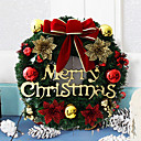 ราคาถูก ของตกแต่งวันคริสต์มาส-พีวีซีคริสต์มาสพรรคสีแดงเซ็ทสนประตูตกแต่งผนังสุขสันต์วันคริสต์มาสตกแต่งต้นคริสต์มาส