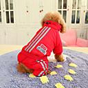 povoljno Odjeća za psa-Psi Izgledi Odjeća za psa Geometrijski oblici Obala Crvena Plava Polyster Kostim Za Zima Vjenčanje Halloween
