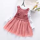 Χαμηλού Κόστους Σετ ρούχων για κορίτσια-Παιδιά Κοριτσίστικα Συνδυασμός Χρωμάτων Patchwork Φόρεμα Dusty Rose