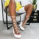 Χαμηλού Κόστους Γυναικείες Γόβες-Γυναικεία Σανδάλια Κοντόχοντρο Τακούνι Ανοικτή Μύτη PVC Μπότες στη Μέση της Γάμπας Γλυκός / Μινιμαλισμός Άνοιξη & Χειμώνας / Φθινόπωρο & Χειμώνας Μαύρο / Λευκό / Πράσινο / Πάρτι & Βραδινή Έξοδος