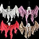billiga Obsidian-halloween dekoration hjemsökt hus bar ktv skräck atmosfär charm hängande mantel tyg skalle liten spökehänge