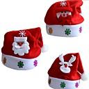 olcso Karácsonyi dekoráció-3db karácsonyi díszek dekoráció karácsonyi kalapok santa kalapok nők férfiak fiúk lányok sapka karácsonyi party kellékek