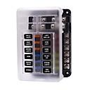 billige Bil-lader-12v 32v plastdeksel sikringsboksholder m5 knopp med LED-indikatorlys 6 måter 12 veier blad for bil