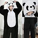 billiga Träning-, jogging- och yogakläder-Vuxna Kigurumi-pyjamas Panda Onesie-pyjamas Flanell Svart / Vit Cosplay För Herr och Dam Pyjamas med djur Tecknad serie Festival / högtid Kostymer