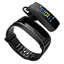 voordelige Sporthorloge-Smart horloge Digitaal Moderne Style Sportief Silicone 30 m Waterbestendig Hartslagmeter Bluetooth Digitaal Informeel Voor Buiten - Zwart Zwart / Zilver