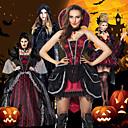 billige Voksenkostymer-Vampyrer Cosplay Kostumer Party-kostyme Voksne Dame Jul Halloween Festival / høytid Blonde Satin Svart / Svart / Rød / Burgunder Dame Karneval Kostumer Vintage