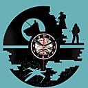 זול שעונים מעוררים-שעון יצירתי תקליטור ויניל תקליטור שעון קיר מלחמת הכוכבים עיצוב בית תפאורה 3d תלייה שעונים קישוט