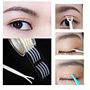 billige Øyenlokkredskap-600 stk øyelokk tape klistremerke usynlig dobbel folding øyelokk lim klar beige stripe selvklebende naturlig øye tape makeup verktøy