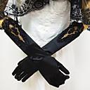 Χαμηλού Κόστους Βάζα & Κουτιά-Δαντέλα / spandex ύφασμα Μέχρι τον αγκώνα Γάντι Δαντέλα / Γάντια Με Μονόχρωμο