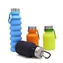 Χαμηλού Κόστους Μπουκάλια Νερού-κύπελλο 550 ml Silica Gel Φορητά Πτυσσόμενο για Κατασκήνωση Κατασκήνωση / Πεζοπορία / Εξερεύνηση Σπηλαίων Cross-Country Μαύρο Καφέ Πράσινο Μπλε
