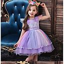 billiga Flickklänningar-Småbarn Flickor Regnbåge Klänning Vit