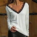 Χαμηλού Κόστους Γαμήλιες Εσάρπες-Γυναικεία T-shirt Μονόχρωμο Θαλασσί