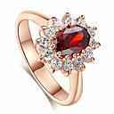 ราคาถูก แหวน-สำหรับผู้หญิง แหวน Cubic Zirconia 1pc Rose Gold สีเขียว แดง Platinum Plated โลหะผสม Stylish ทุกวัน เครื่องประดับ น่ารัก