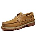 ราคาถูก Boat Shoes ผู้ชาย-สำหรับผู้ชาย รองเท้าคอมแบท แน๊บป้า Leather ฤดูร้อนฤดูใบไม้ผลิ / ฤดูใบไม้ร่วง & ฤดูหนาว อังกฤษ รองเท้าสำหรับใส่ในเรือ ไม่ลื่นไถล สีดำ / สีเหลือง
