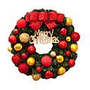 ราคาถูก ภาพจิตรกรรมฝาผนัง-พีวีซีคริสต์มาสพรรคสีแดงเซ็ทสนประตูตกแต่งผนังสุขสันต์วันคริสต์มาสตกแต่งต้นคริสต์มาส