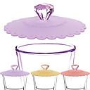 billige Drinkware Tilbehør-silikon diamant kopp lokk te kopp kopp sugetrekk varmebestandig gjenbrukbart forseglet deksel assortert farge