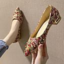 ราคาถูก รองเท้าส้นเตี้ยผู้หญิง-สำหรับผู้หญิง รองเท้าส้นเตี้ย ส้นต่ำ Pointed Toe ของประดับด้วยลูกปัด / หินประกาย ผ้าใบ วินเทจ / minimalism ฤดูใบไม้ผลิ & ฤดูใบไม้ร่วง / ฤดูใบไม้ร่วง & ฤดูหนาว สีดำ / แดง / ผ้าขนสัตว์สีธรรมชาติ