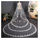 baratos Decorações para Casamento-Uma Camada Vintage Véus de Noiva Véu Catedral com Adorno 137,8 cm (350 centímetros) Renda / Tule / Corte de Anjo / Cascata