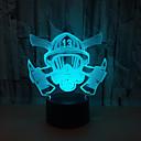 baratos Molinetes de Pesca-máscara de fogo 3d luz de toque colorida toque remoto 3d luz 3d luz visual