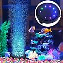 billiga Tillbehör till fiskar och akvarium-Akvarelljus Akvariedekorationer LED-lampa Luftpump 1st Fish Tank Light Multifärg Energisparande Ljudlös Plast 220 V / #