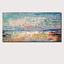Χαμηλού Κόστους Πίνακες Τοπίων-Hang-ζωγραφισμένα ελαιογραφία Ζωγραφισμένα στο χέρι - Αφηρημένο Τοπίο Σύγχρονο Μοντέρνα Περιλαμβάνει εσωτερικό πλαίσιο