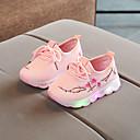 Χαμηλού Κόστους Παιδικά πέδιλα-Αγορίστικα / Κοριτσίστικα LED / Φωτιζόμενα παπούτσια PU Αθλητικά Παπούτσια Τα μικρά παιδιά (4-7ys) / Μεγάλα παιδιά (7 ετών +) Περπάτημα Λουλούδι / LED Μαύρο / Λευκό / Ροζ Άνοιξη / Καλοκαίρι