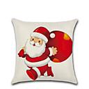 billige Putevar-1 stk god jul dekorative polyester putevar jul putevar dekke santa claus elg putevar