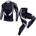 Χαμηλού Κόστους Ρούχα τρεξίματος-Ανδρικά Συσκευασία συμπίεσης 1set Χειμώνας Τρέξιμο Fitness ΑΘΛΗΤΙΚΑ ΡΟΥΧΑ καμουφλάζ Γρήγορο Στέγνωμα Ρούχα σύνολα Ρούχα Γυμναστικής Υψηλή Ελαστικότητα Κανονικό