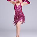 ราคาถูก ชุดเต้นสำหรับเด็ก-ชุดเต้นละติน / ชุดเต้นสำหรับเด็ก ชุดเดรสต่างๆ เด็กผู้หญิง การฝึกอบรม / Performance Elastane ปักเลื่อม เสื้อไม่มีแขน สูง ชุดแนบเนื้อสำหรับการเต้น