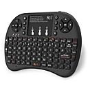 ราคาถูก เครื่องเพิ่มสัญญาณโทรศัพท์-Rii K08+ ไร้สาย 2.4GHz Air Mouse Minii Keyboard Mini ด้วยทัชแพด แสงพื้นหลังสีขาว 72 pcs คีย์