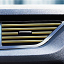 ราคาถูก DIY ตกแต่งภายในรถยนต์-ภายในรถปรับอากาศเต้าเสียบระบายกระจังแถบตกแต่งรูปตัว u แถบคิ้วตกแต่งภายใน