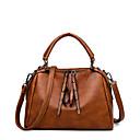 ราคาถูก กระเป๋า Totes-สำหรับผู้หญิง PU กระเป๋าถือยอดนิยม สีทึบ สีดำ / สีน้ำตาล / ทับทิม