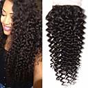 Χαμηλού Κόστους Εξτένσιος μαλλιών με φυσικό χρώμα-Fulgent  Sun Βραζιλιάνικη / Kinky Σγουρό 4x4 Κλείσιμο Σγουρά Δωρεάν Μέρος Ελβετική δαντέλα Φυσικά μαλλιά Γυναικεία Η καλύτερη ποιότητα / Hot Πώληση / Δαντέλα Κλείσιμο