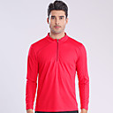 ราคาถูก เสื้อยืดปีนเขา-สำหรับผู้ชาย Hiking T-shirt แขนยาว กลางแจ้ง ระบายอากาศ แห้งเร็ว Sweat-wicking สบาย เสื้อยึด ฤดูใบไม้ร่วง ฤดูหนาว POLY แดง ฟ้า แคมป์ปิ้ง / การปีนเขา / เที่ยวถ้ำ การเดินทาง