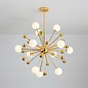Χαμηλού Κόστους Φώτα νησί-σύγχρονη οδήγησε γυαλί μενταγιόν γυαλί σαλόνι τραπεζαρία αίθουσα πολυέλαιος με 12 φώτα ηλεκτρολυτική χρυσή φινίρισμα g4 βάση βολβών